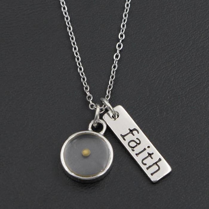 The Mustard Faith Necklace - Matthew 17:20 Heart Just Superb Free Shipping