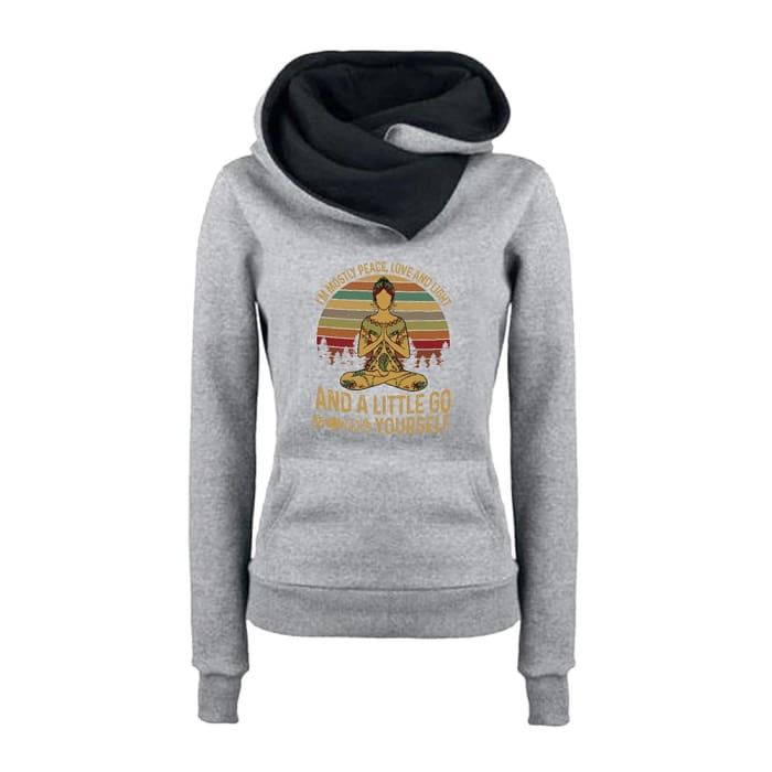 Tiahna - Im Mostly Peace Love And Light... Hoodie For Her Black / S (US XXS) (UK XS) Just Superb Free Shipping