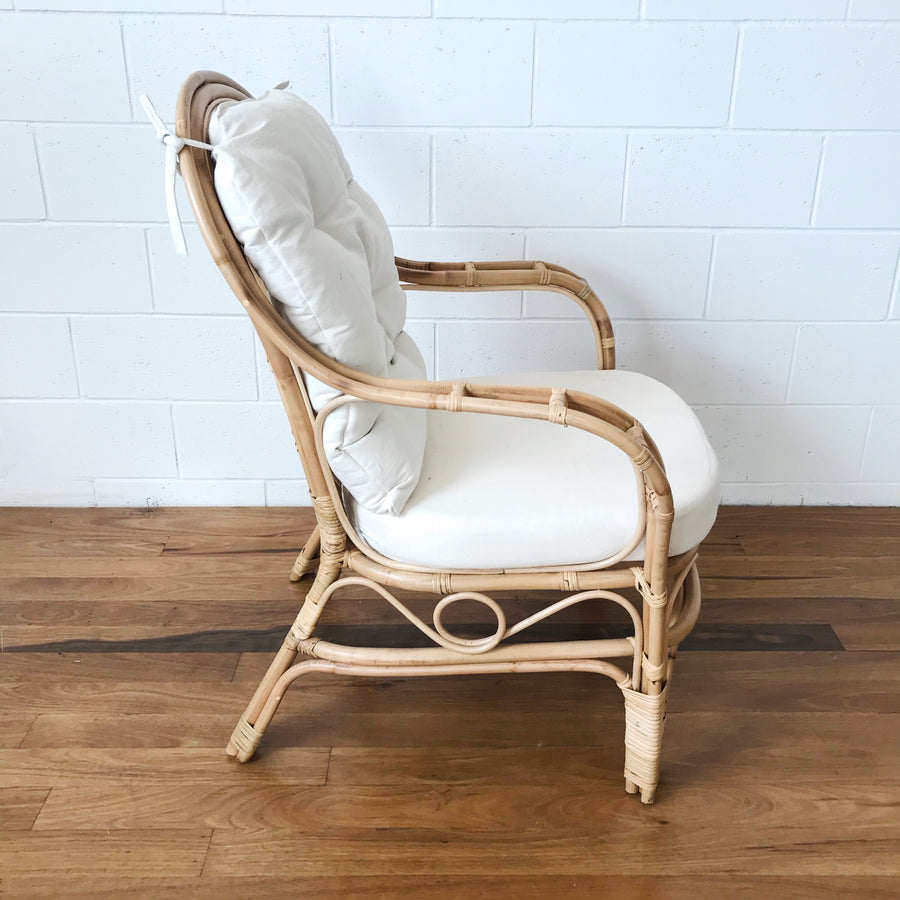 Aysun Natural Single Rattan Chair