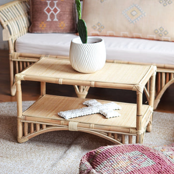 Natural Bangalow Split Cane Coffee Table