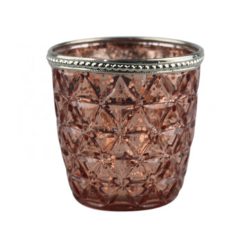 Blush Diamond Glass Candle