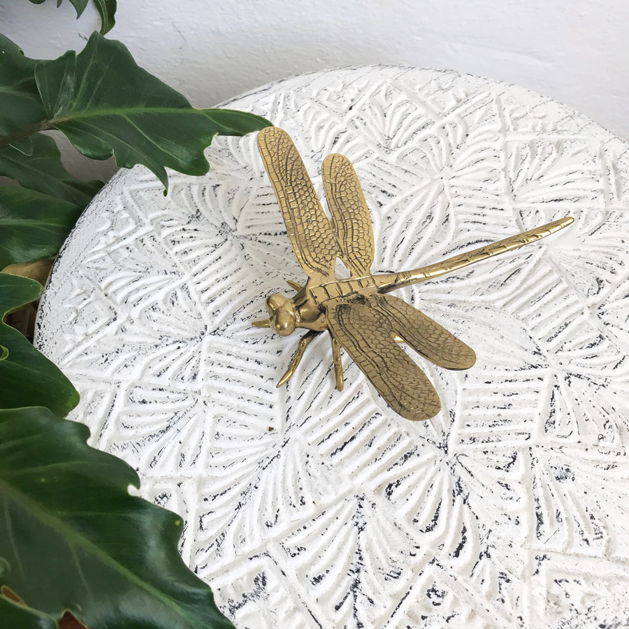 Medium Brass Dragonfly