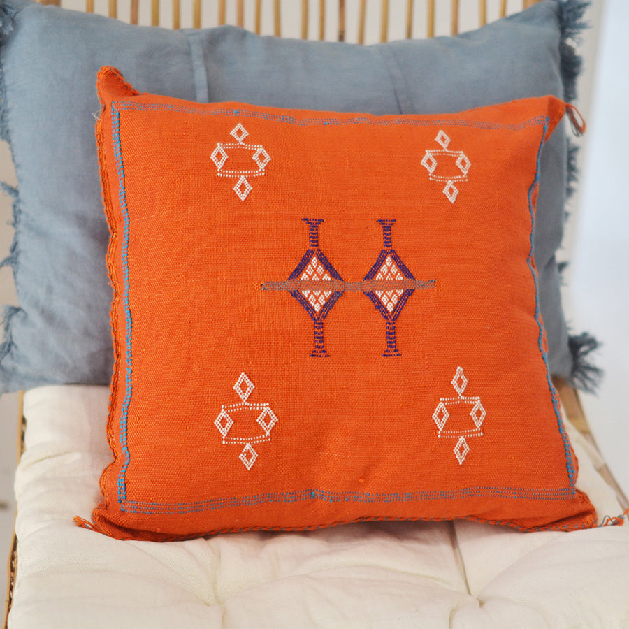 Moroccan Cactus Silk Square Cushion