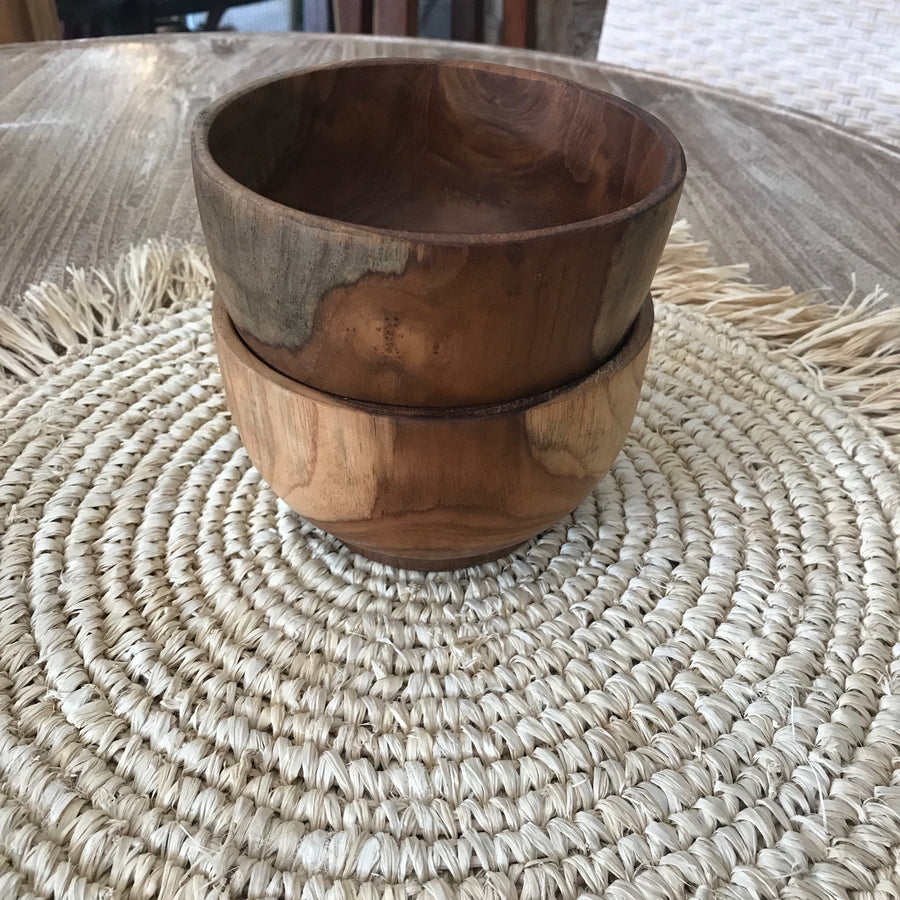 Deep Wooden Bowl