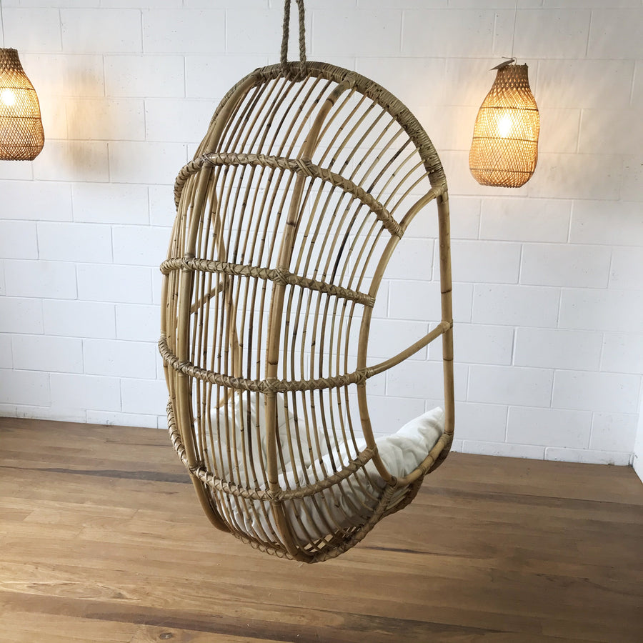 Drift Single Rattan Cane Hanging Chair