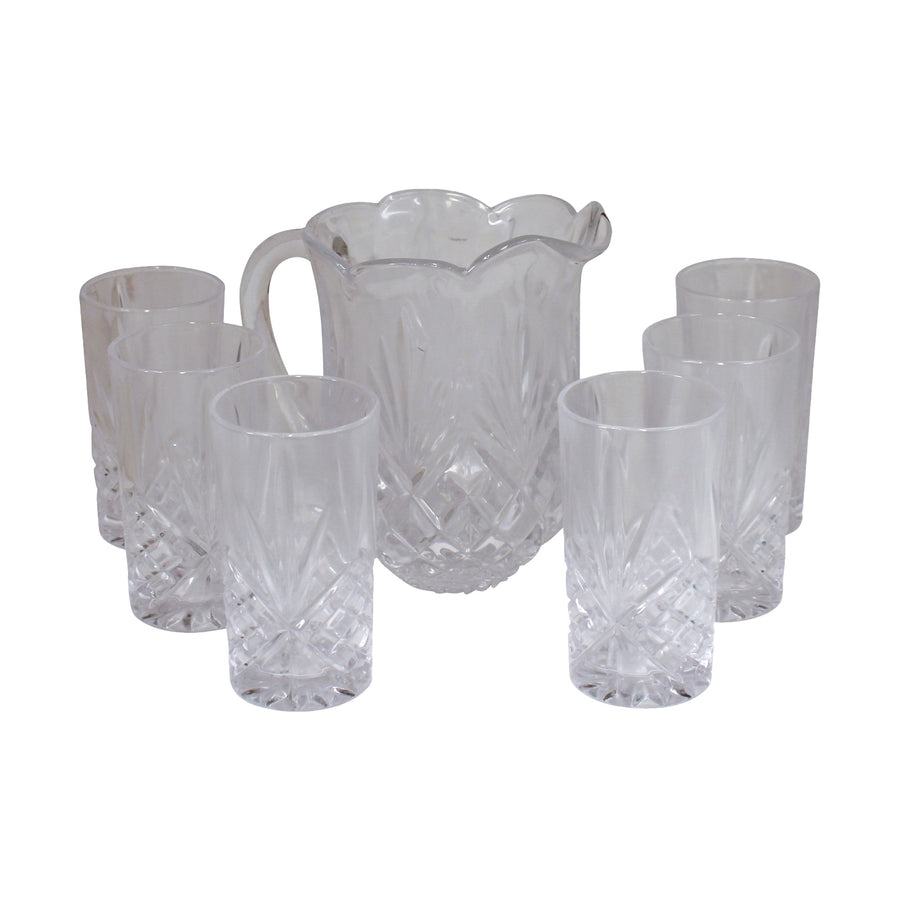 Glass Jug Set & 6 Glasses