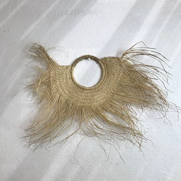 Half Round Woven Grass Wall Decor