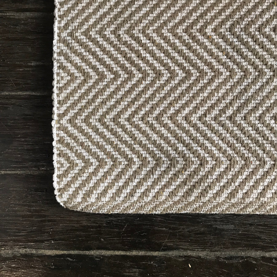 Cotton Beige Rug Jute