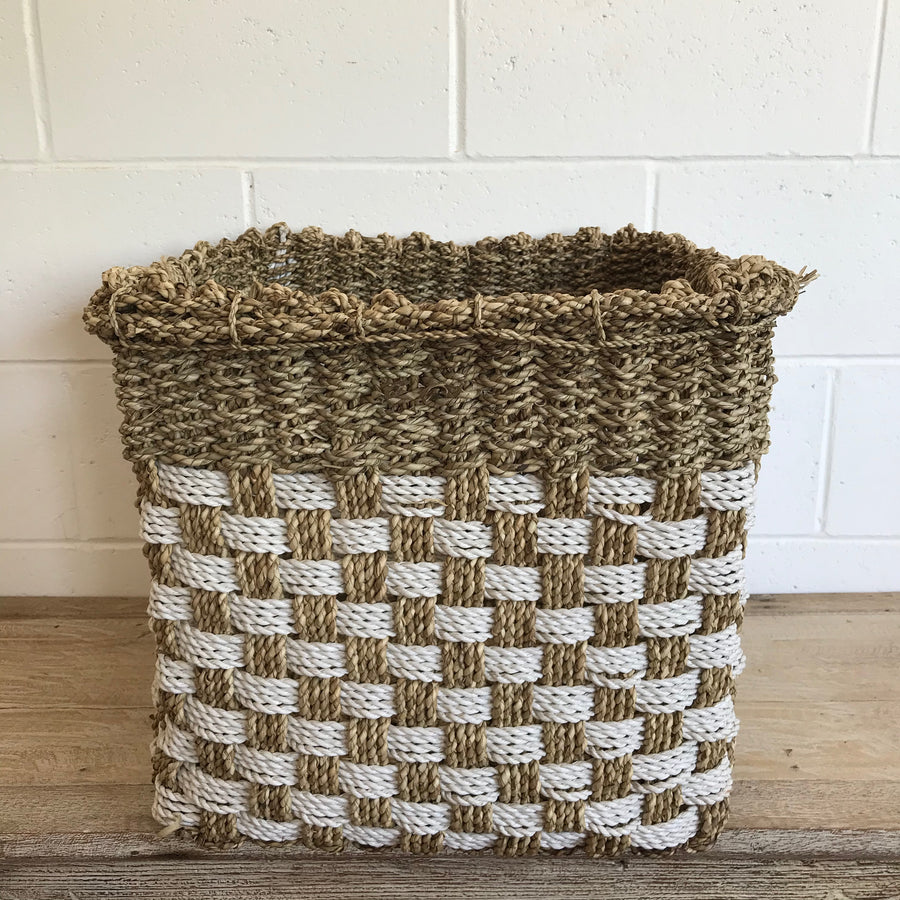 Large Square Woven Basket