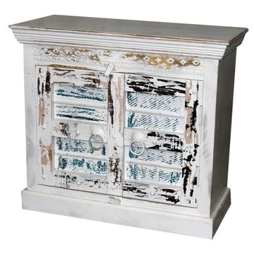 Indian White Wash Timber 90cm Vanity | Assorted Designs