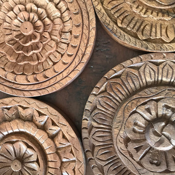 Indian Carved Chapati Plates
