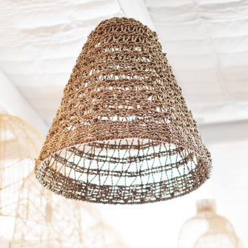 Large Open Weave Seagrass Pendant