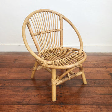 Little One Round Rattan Chair