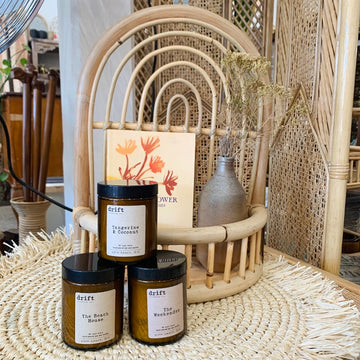 Medium Amber Drift Trading Co. Soy Wax Candles