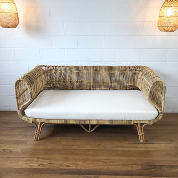 Rattan Lounge Curved 2 Seater