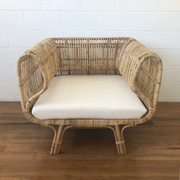 Oasis Natural Rattan Single Lounge