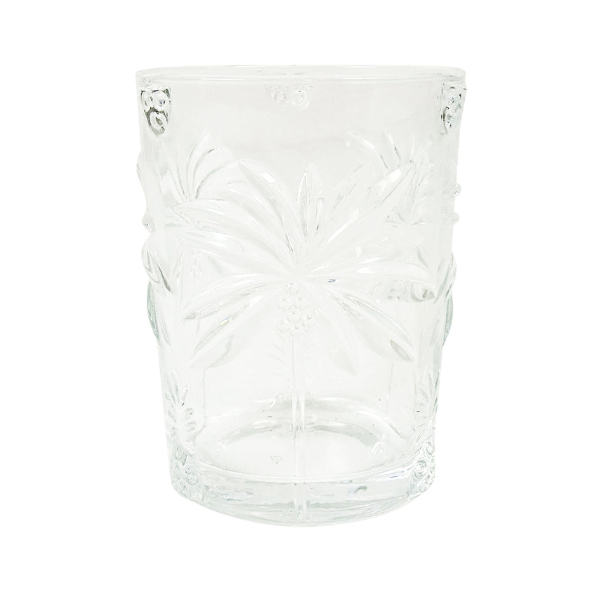 Palm Clear Glass Tumbler