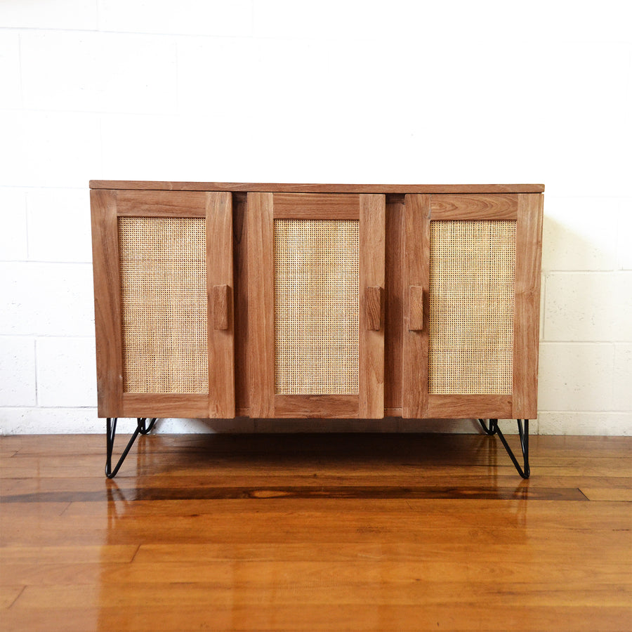 Palms Rattan & Timber Sideboard 100cm L