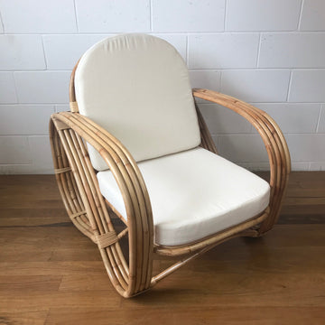 Pretzel Blonde Rattan Arm Chair