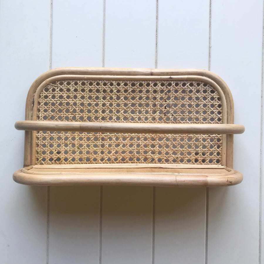 Short Rattan Weave Shelf