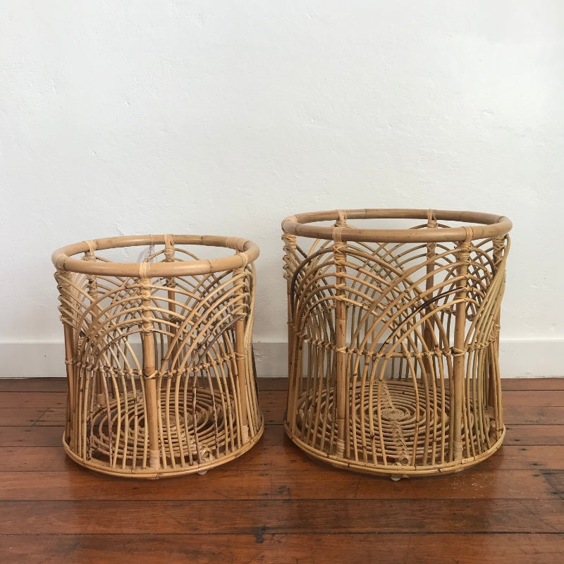 Large Decorative Rattan Plant Stand