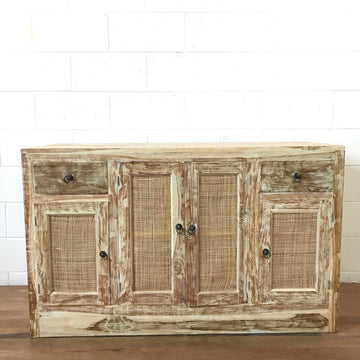 Rattan & White Wash Timber Vanity