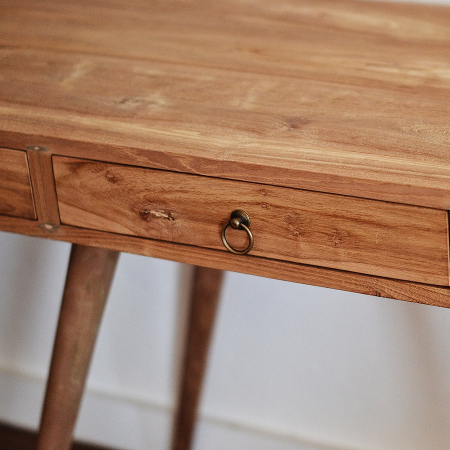 Retro Teak Timber Desk