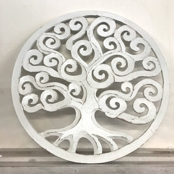 Round Carved Timber Tree Design | Various Sizes