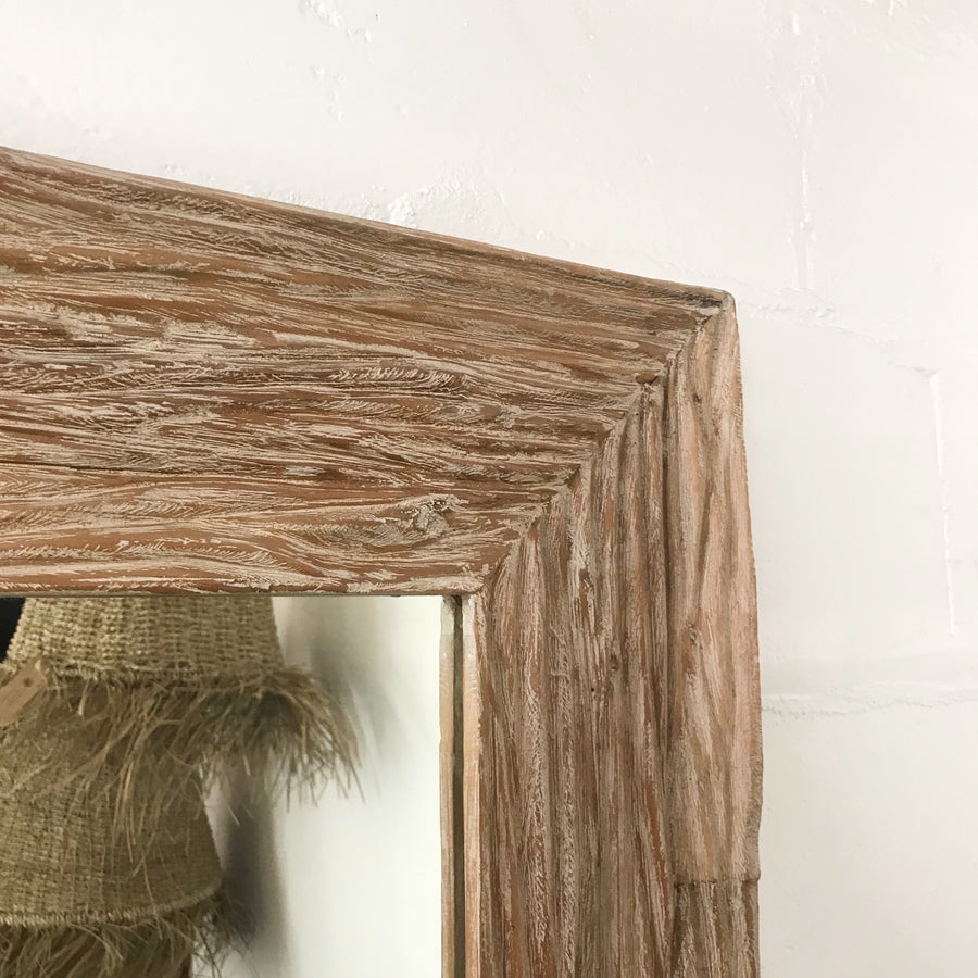 Rustic Rugged Timber Recycled Mirror
