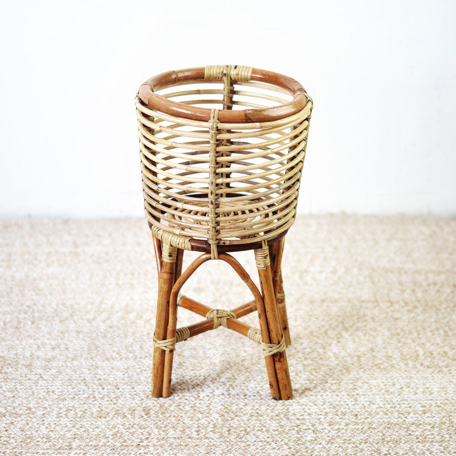 Short Sacred Rattan Plant Stand