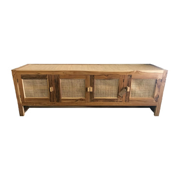 Low Timber and Rattan Sideboard