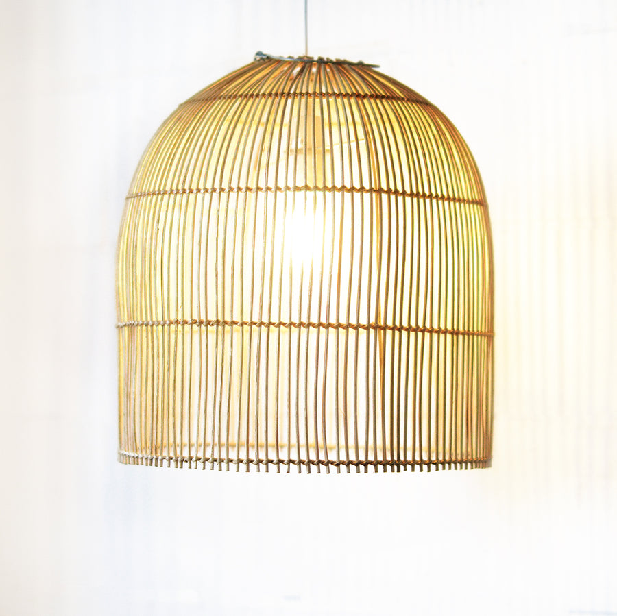 Coastal Tropical Rattan Cane Dome Pendant