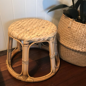 Small Sunshine Rattan Stool