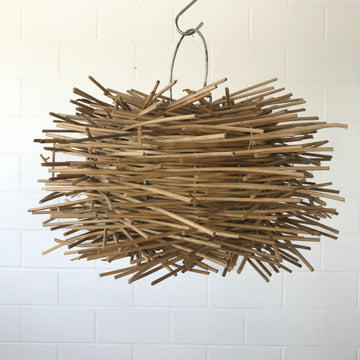 Small Bird Nest Rattan Pendant