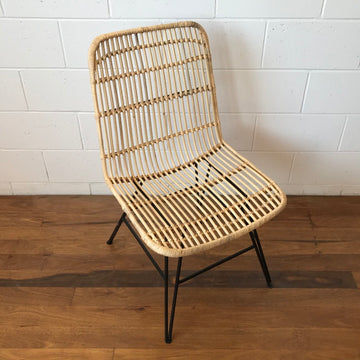 Steel + Rattan Dining Chair