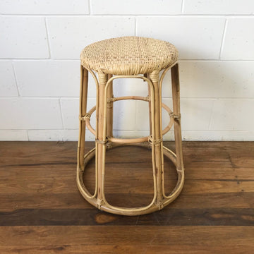 Large Sunshine Rattan Stool