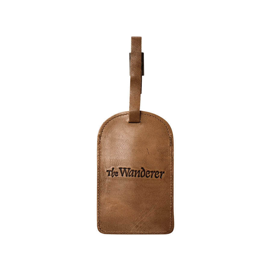 The Wanderer Leather Luggage Tag