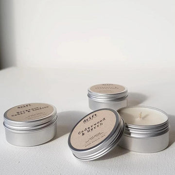 Large Travel Tin Drift Trading Co. Soy Wax Candles