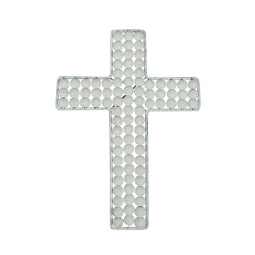 White Beaded Cross