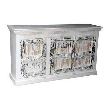 Indian White Wash Timber 160cm Sideboard | Assorted Designs