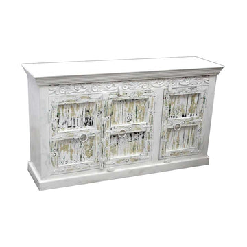 Indian White Wash Timber 150cm Sideboard | Assorted Designs