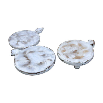 Assorted White Timber Indian Chapati Boards
