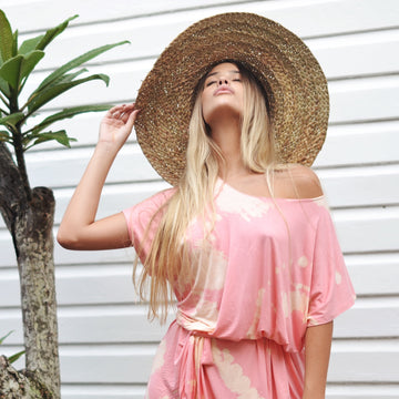 Wide Brim Braided Beach Hat