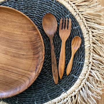 Timber Sustainable Eco Friendly Reusable Cutlery Plates Bowls