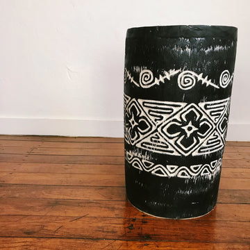 Tribal Carved Palm Stool - Side Table