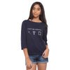 Navy Blue Long Tee Can't Do Without - GENZEE