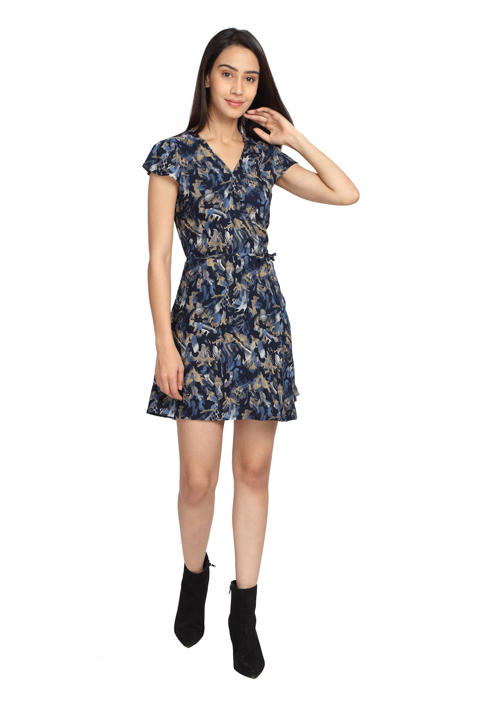Wrap Around Dress Blue