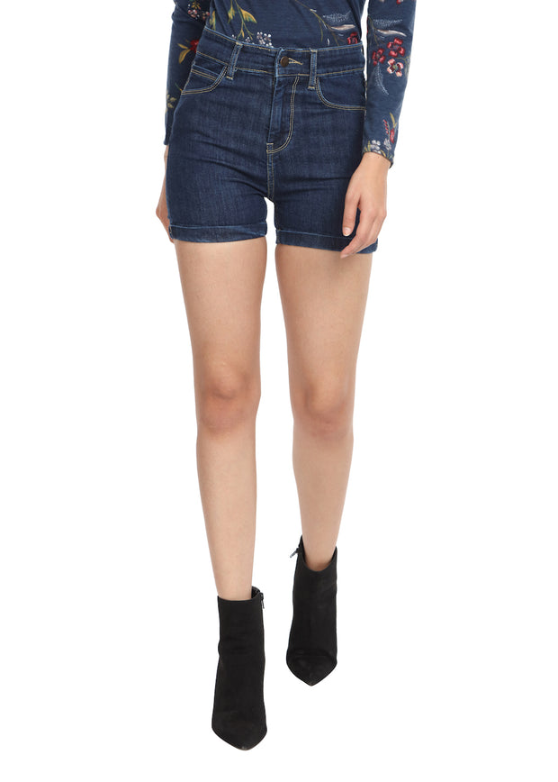 Denim Shorts Navy - GENZEE