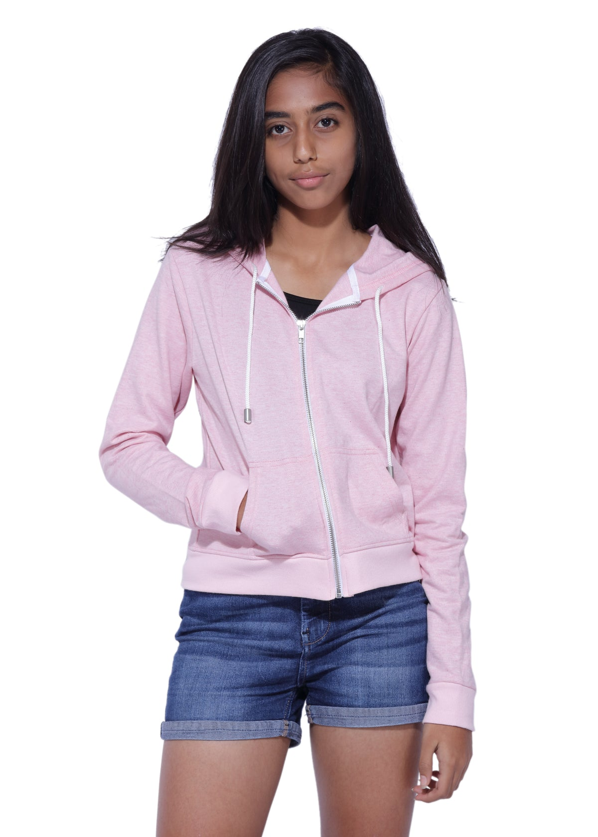 Pink hoodie for teenage girls