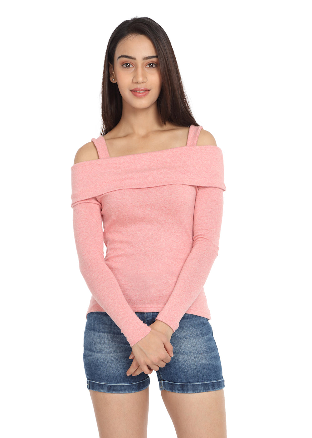Peach Fold-Over Top - GENZEE